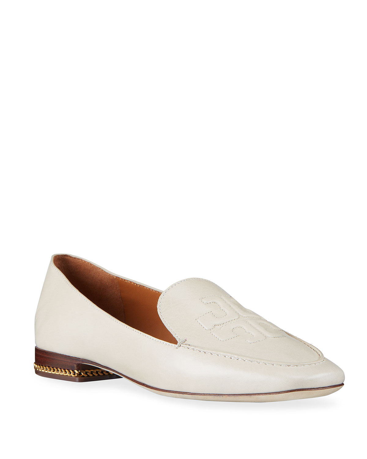 Ruby Leather Logo Loafers