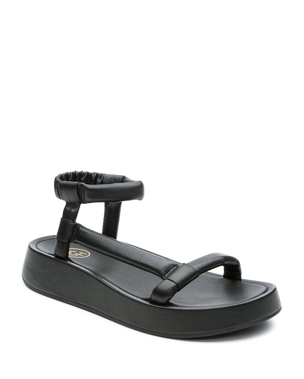Victoria Puffy Napa Asymmetrical Sandals