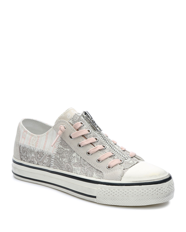Verso Patchwork Low-Top Zip Sneakers