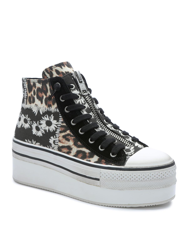 Jagger Patchwork Mid-Top Zip Sneakers