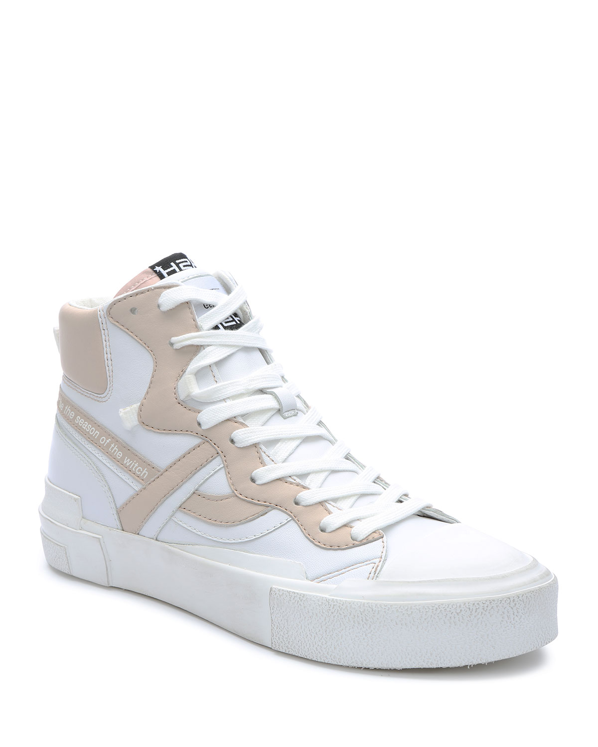 Grease Bicolor Leather High-Top Sneakers