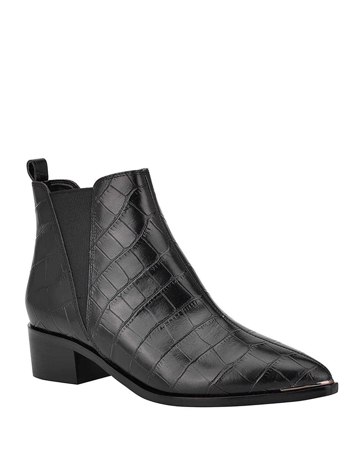 Yale Croc-Embossed Chelsea Boots