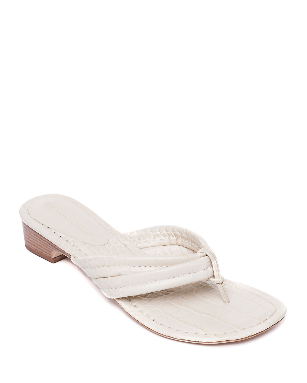 Moc-Croc Demi-Wedge Sandals