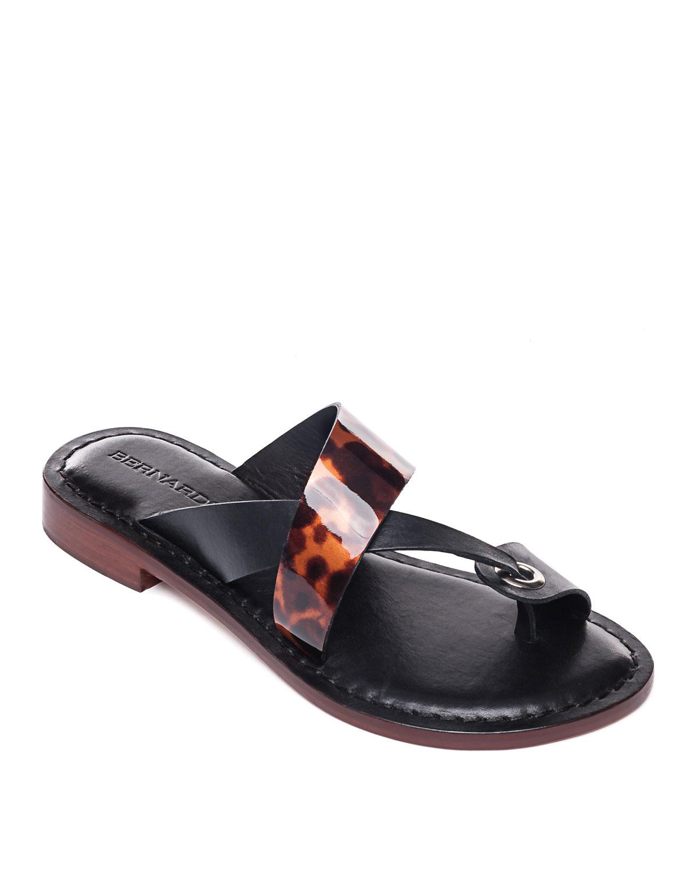 Crisscross Tortoise Flat Sandals