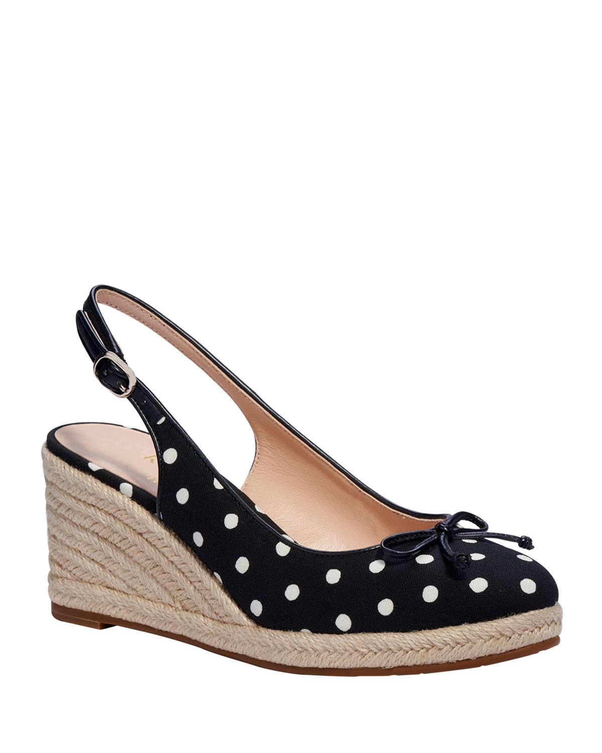 Kate Spade PANAMA NIGHTS POLKA-DOT WEDGE SANDALS