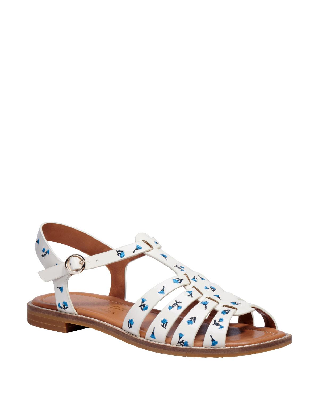 Kate Spade Sandals WONDER FLORAL-PRINT FLAT SANDALS