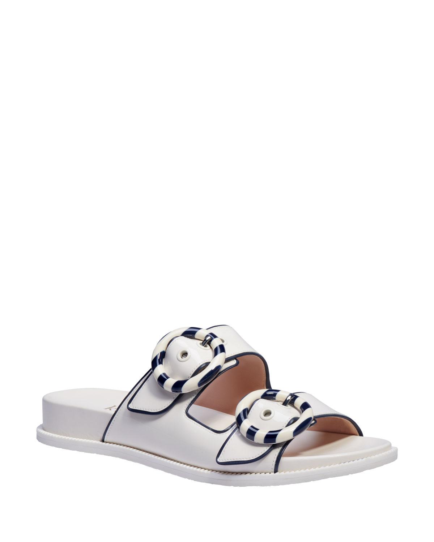 rhode bicolor patent sporty sandals