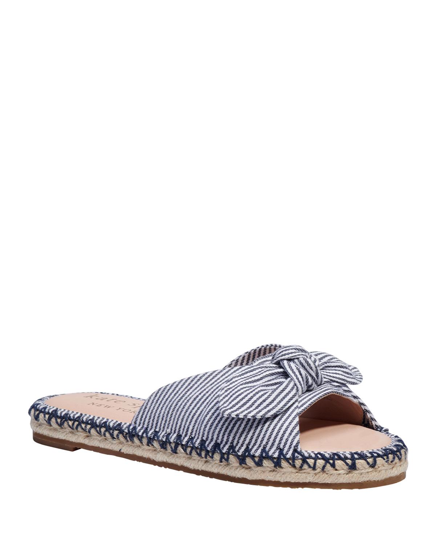saltie shore bow striped flat sandals