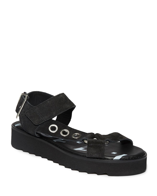 Rhianne Suede Grommet Sporty Sandals