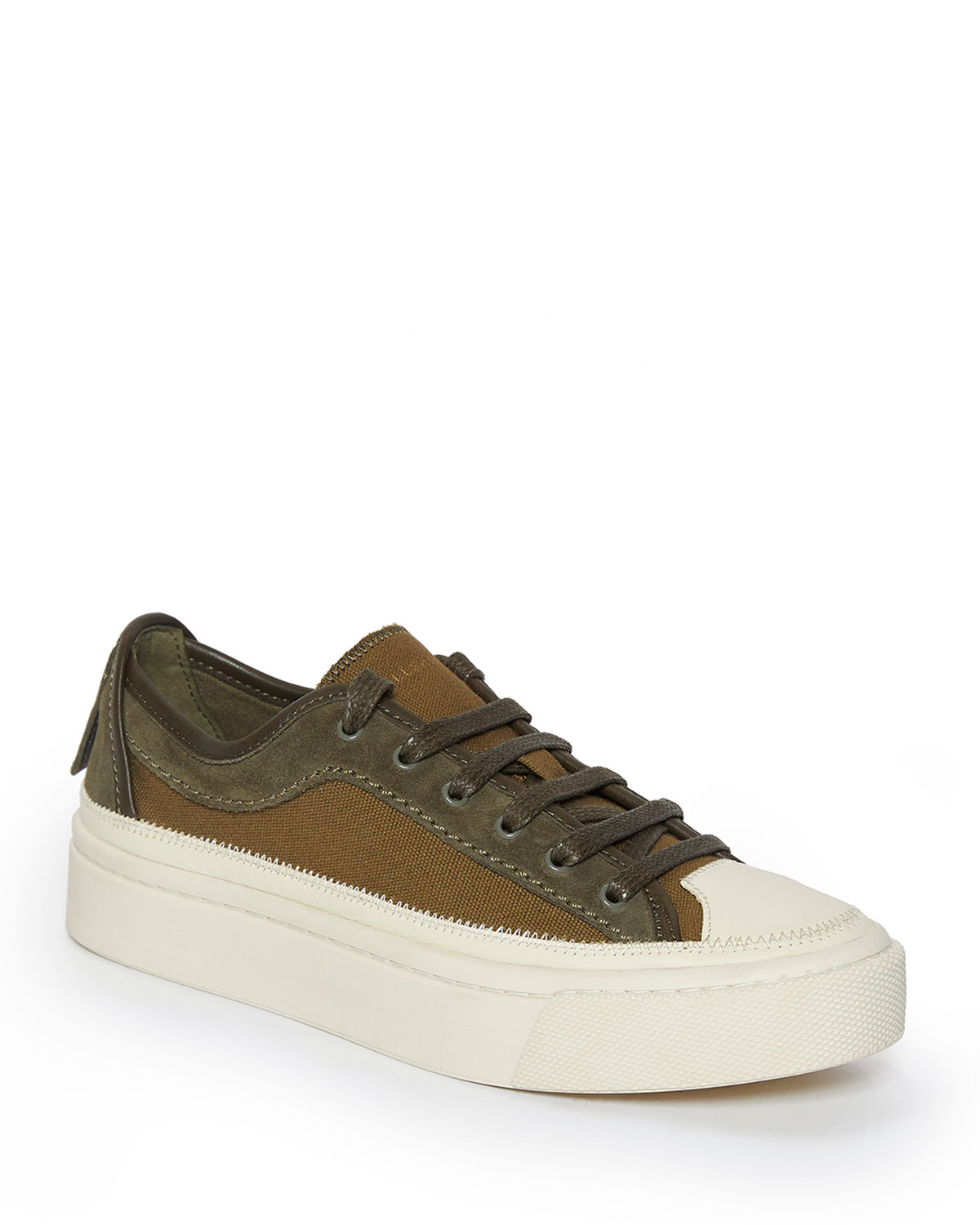 Allsaints Platforms MILLA LOW-TOP MIXED LEATHER SNEAKERS