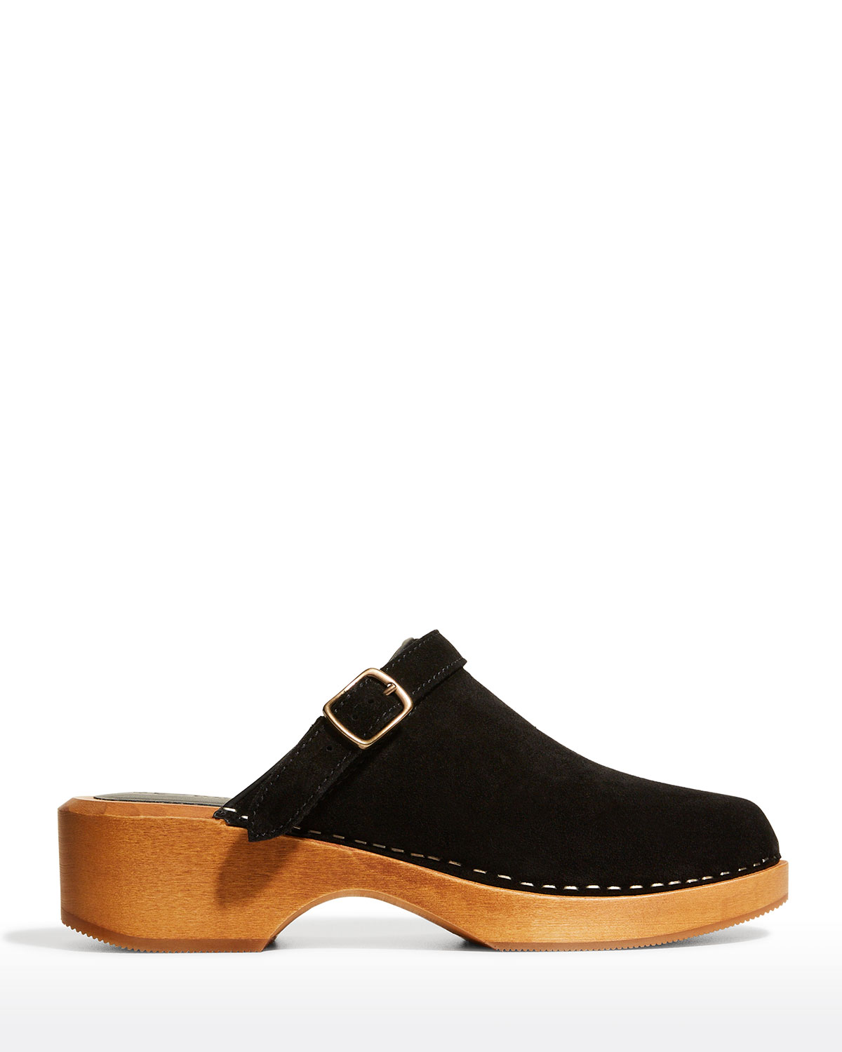Re/done Suedes 70S CLASSIC SUEDE BUCKLE CLOGS