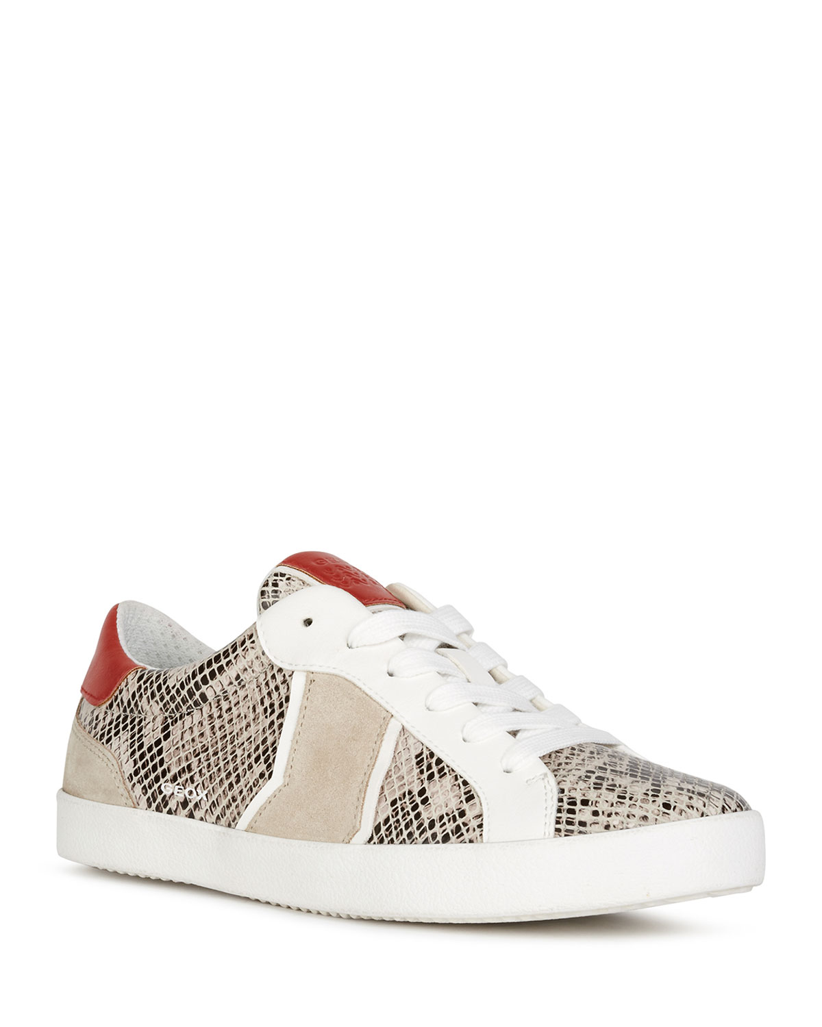 Geox Sneakers WARLEY MIXED LEATHER LOW-TOP SNEAKERS