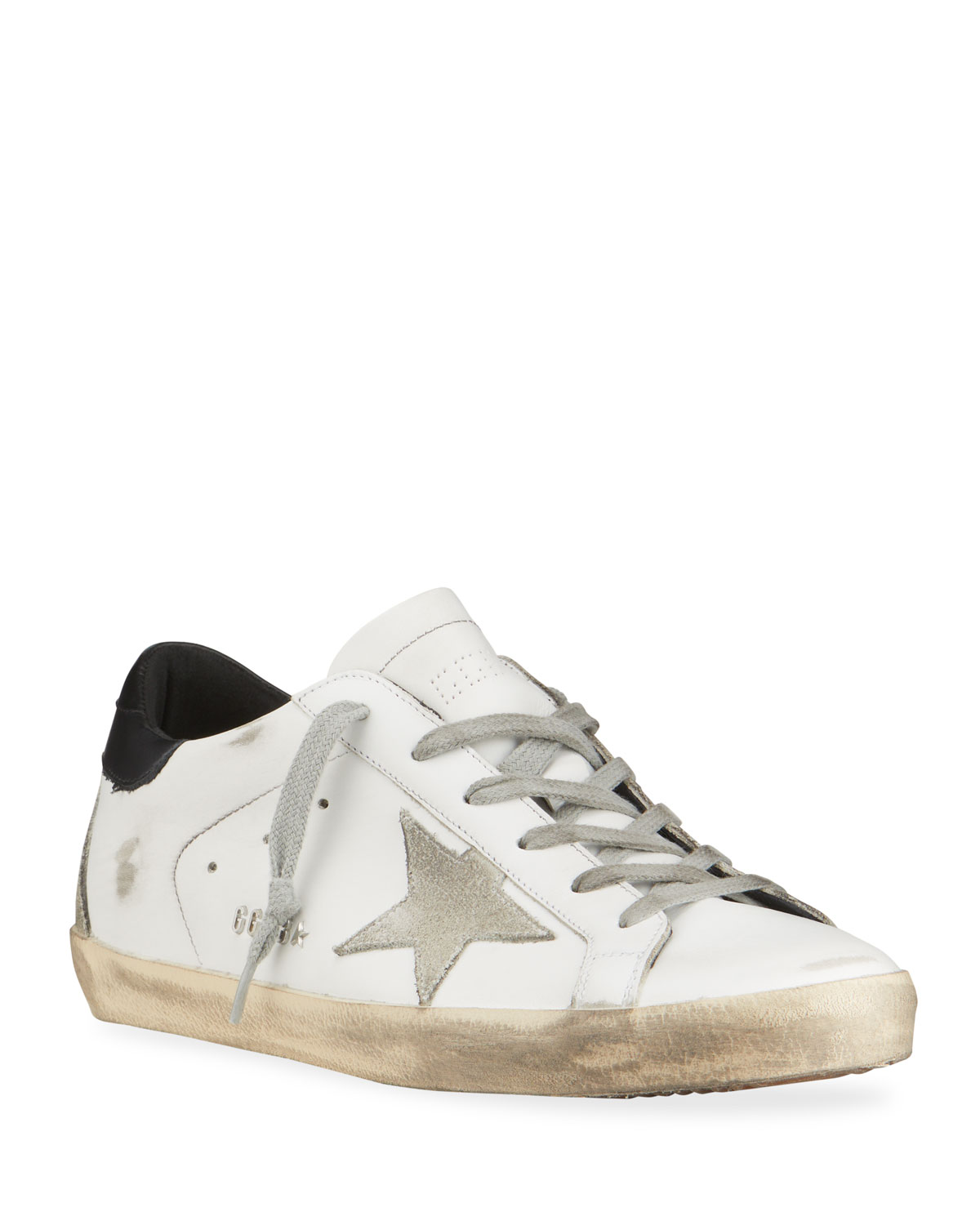 Golden Goose SUPERSTAR MIXED LEATHER SNEAKERS