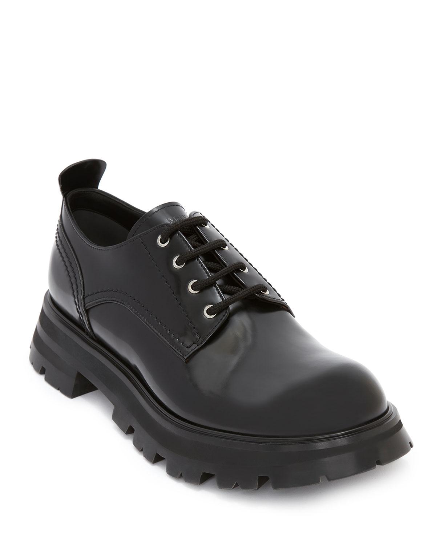 Wander Shiny Lug-Sole Loafers