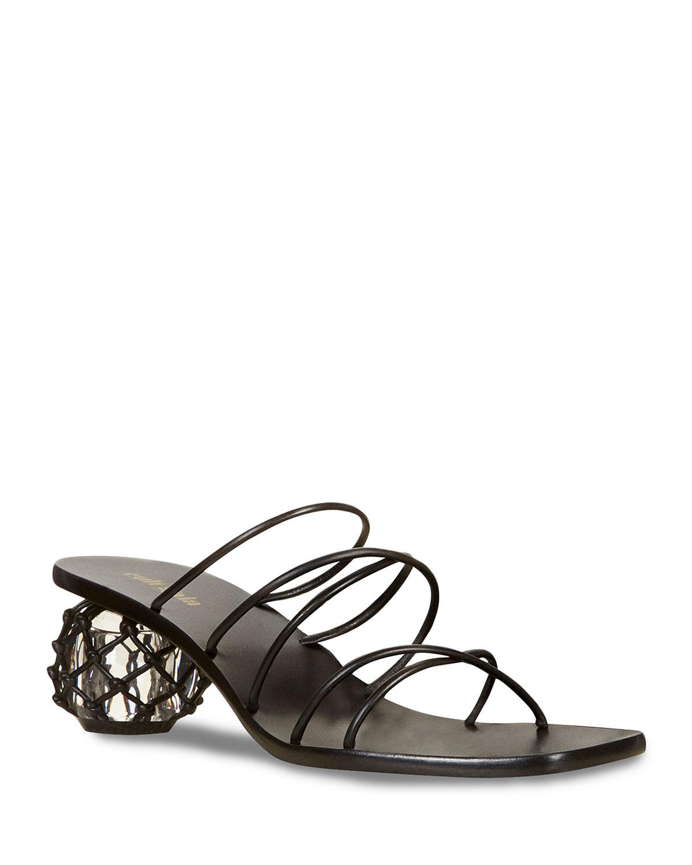 Kelly Strappy Sphere-Heel Slide Sandals