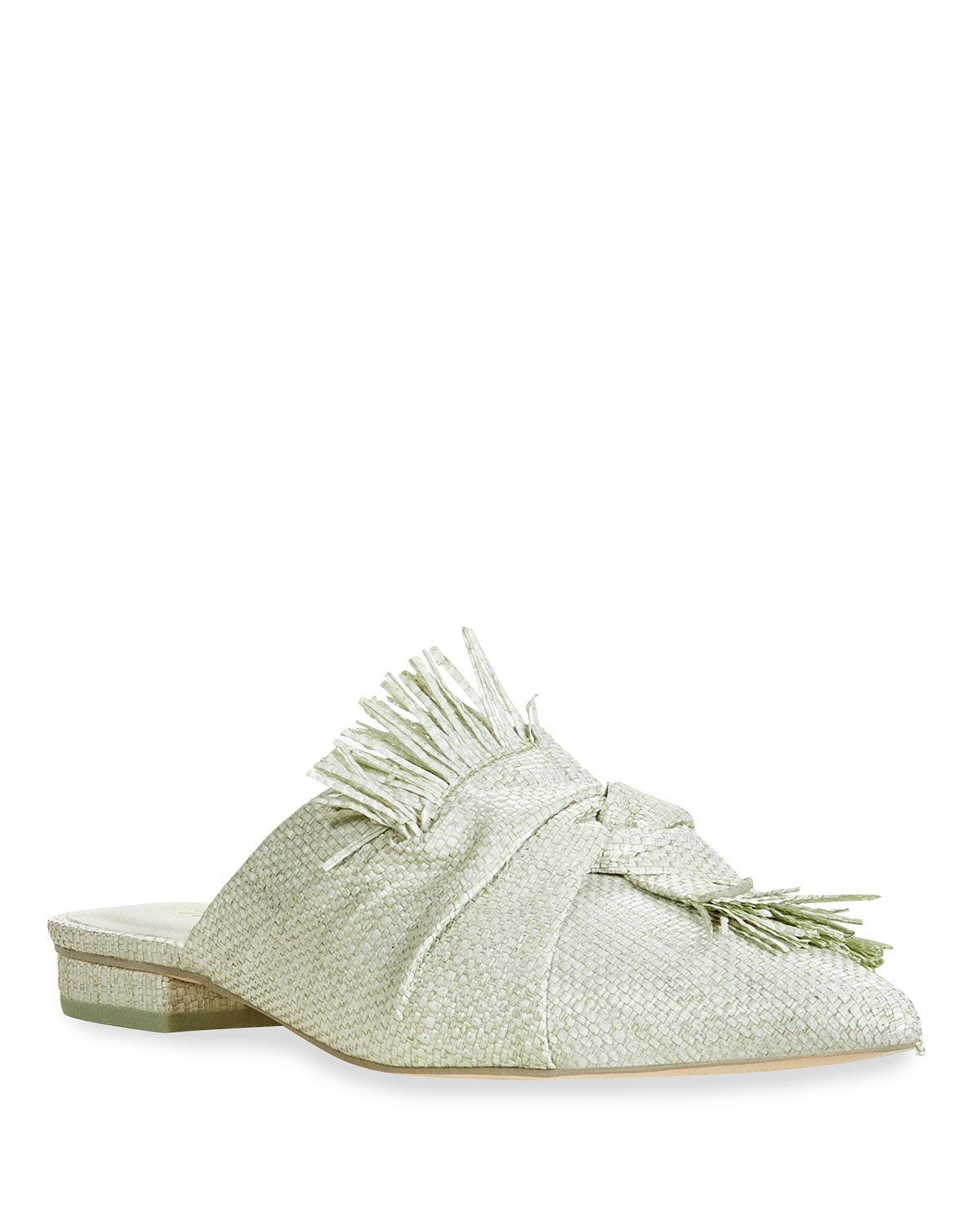 Angie Straw Knot Slide Mules