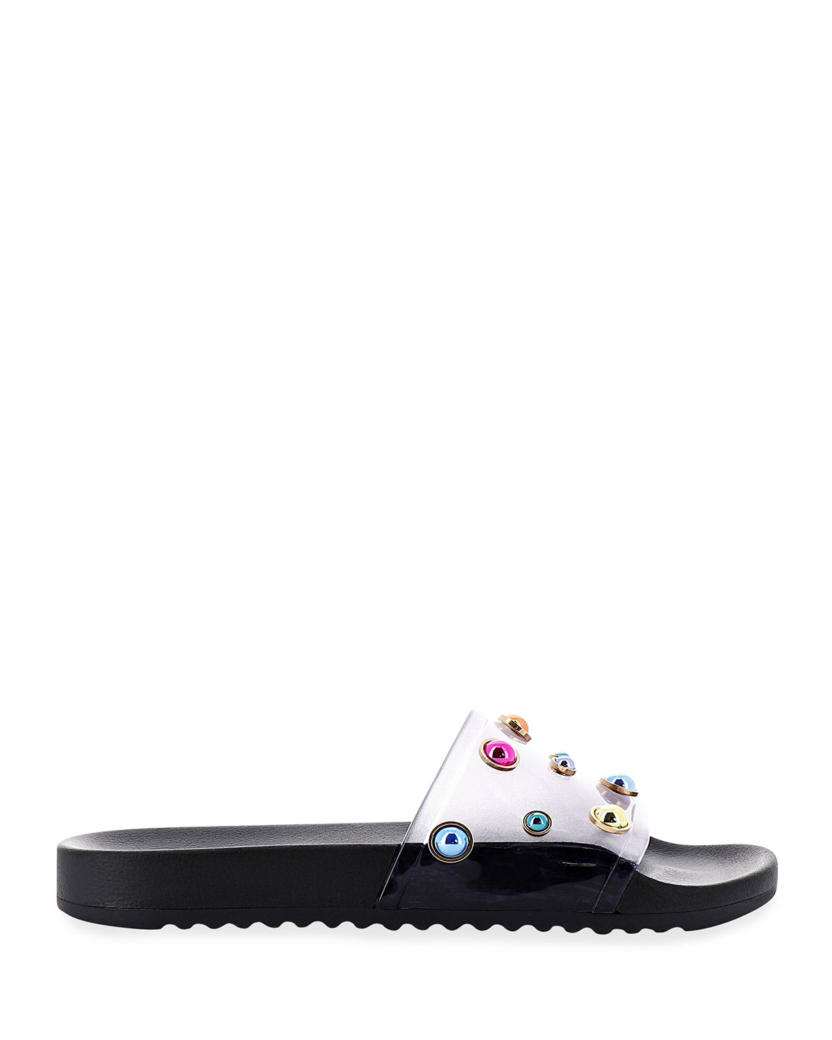 Sophia Webster DINA CRYSTAL-STUD FLAT SANDALS