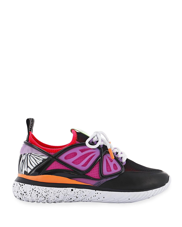 Sophia Webster Women's Fly-by Knit Low-top Sneakers In Black Purple