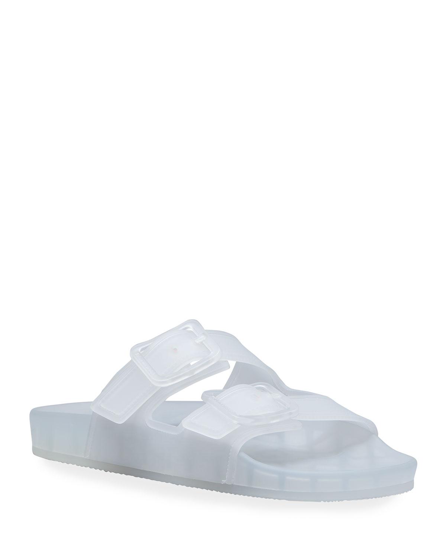 Balenciaga Slides MALLORCA TRANSPARENT DUAL-BUCKLE SLIDE SANDALS