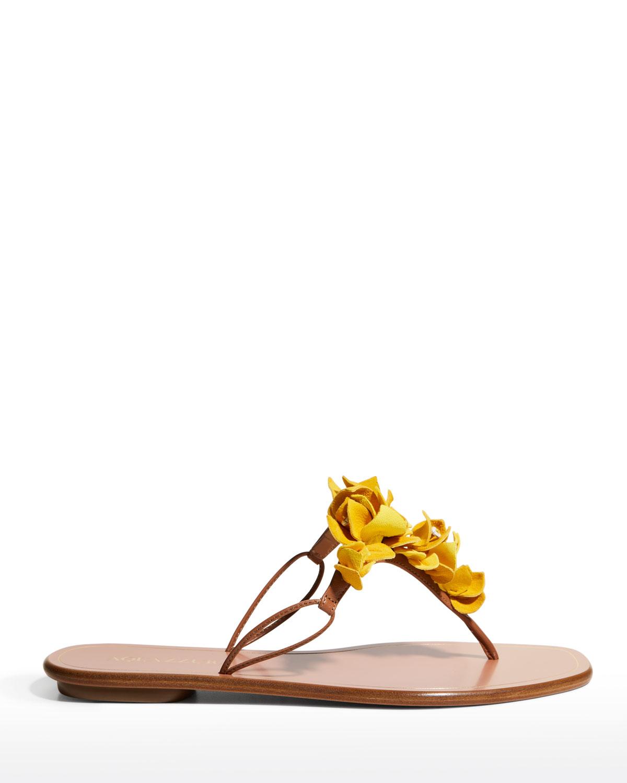 Bougainvillea 3-D Floral Thong Sandals
