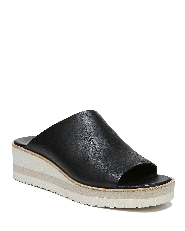 Sarria Asymmetrical Leather Slide Sandals