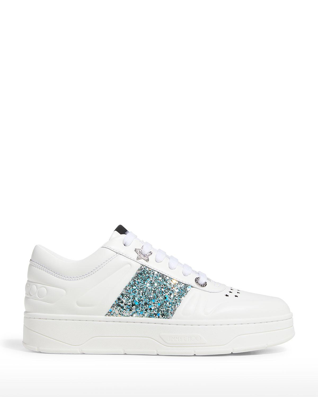 Hawaii Glitter Stripe Flatform Sneakers