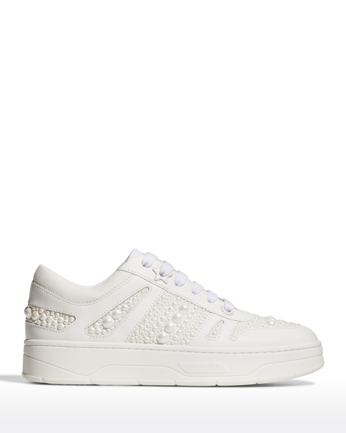 Hawaii Leather Pearly Flatform Sneakers
