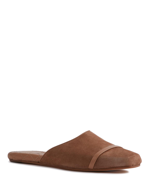 Suede Flat Slide Mules