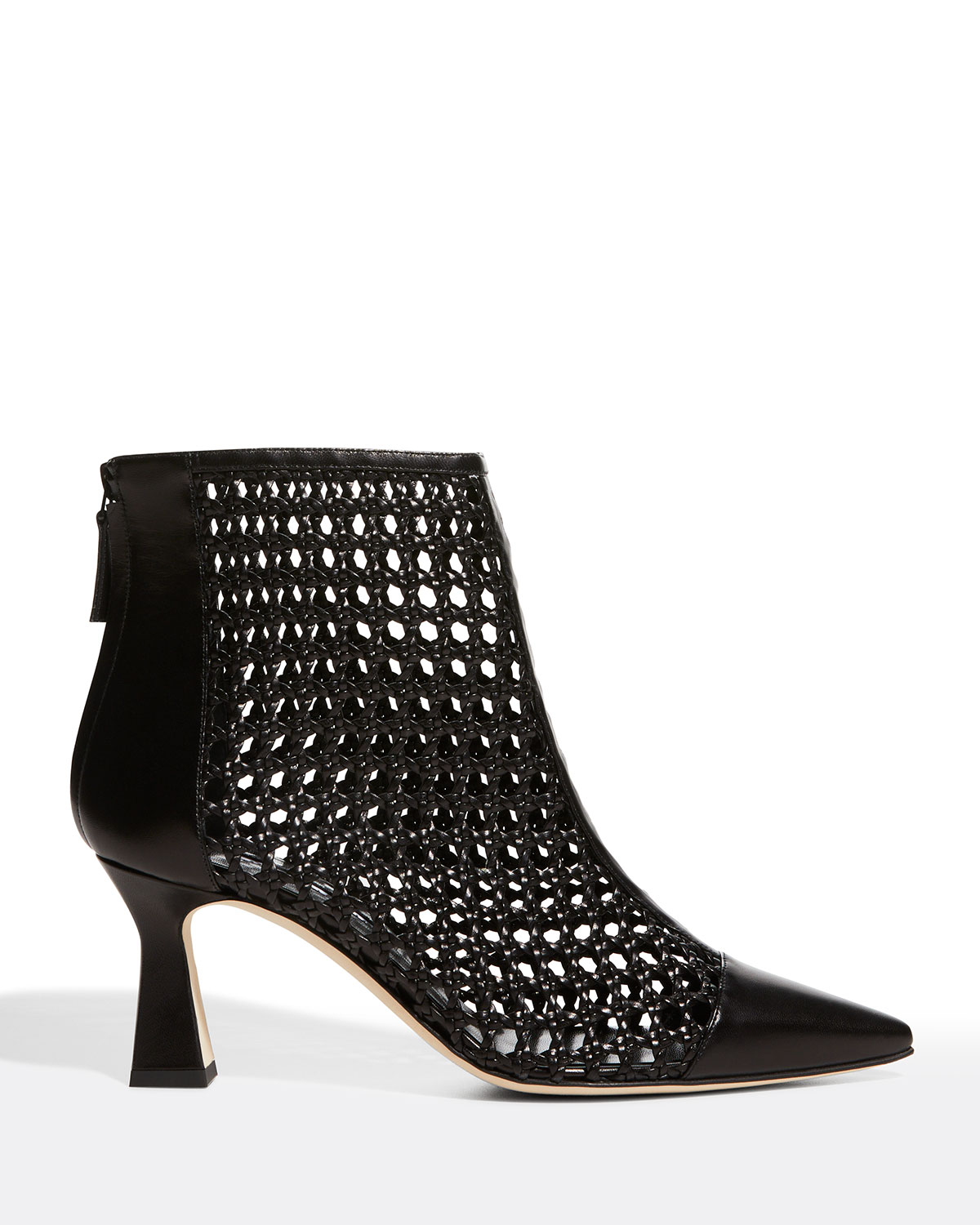 Griego Netted Zip Ankle Booties