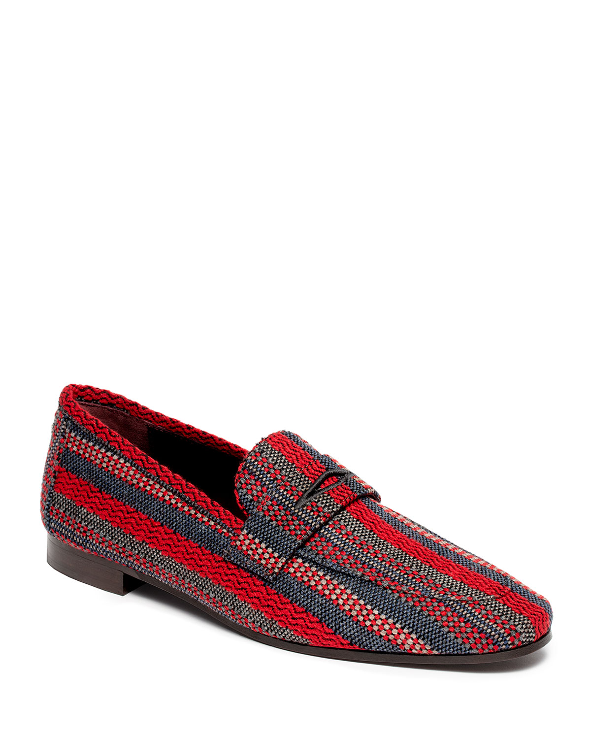 Striped Tweed Penny Loafers