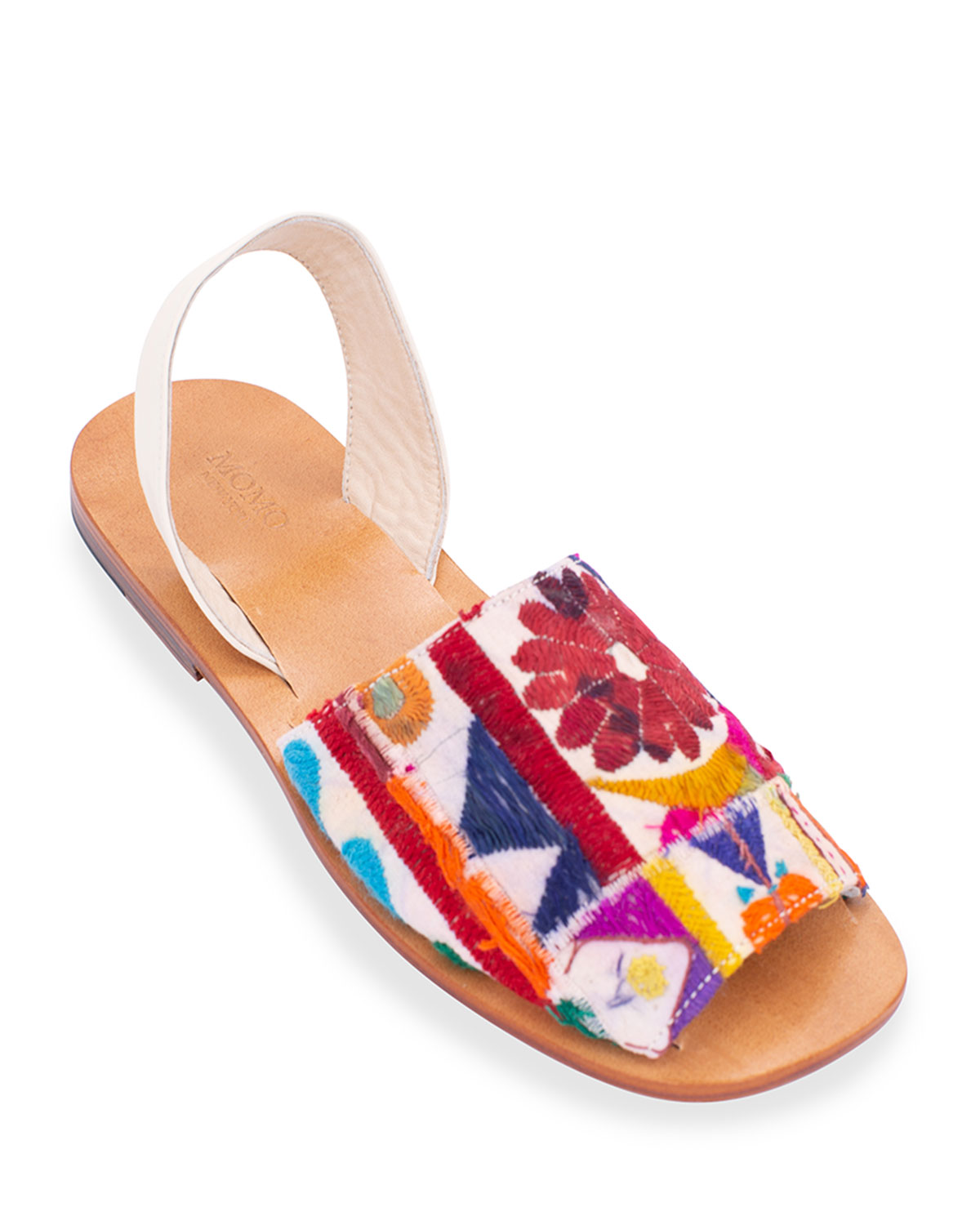 Francis Embroidered Patchwork Slingback Sandals