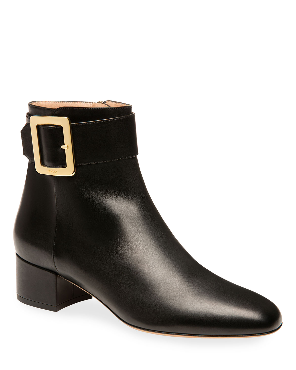 Jay Smooth Buckle Ankle Booties