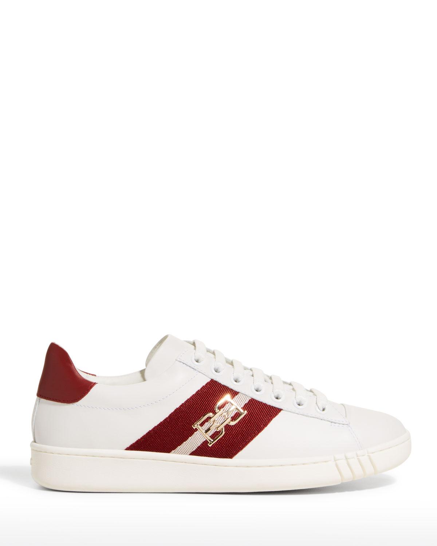 Bicolor Web Stripe Low-Top Sneakers