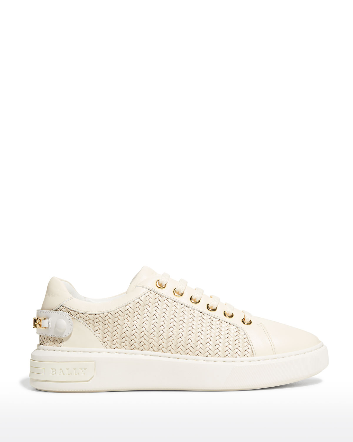 Woven B Chain Low-Top Sneakers