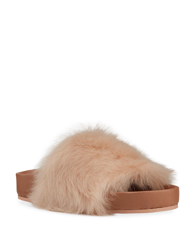 Toscana Shearling Fur Slide Sandals
