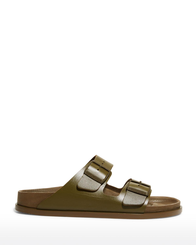 1774 Arizona Double-Buckle Slide Sandals