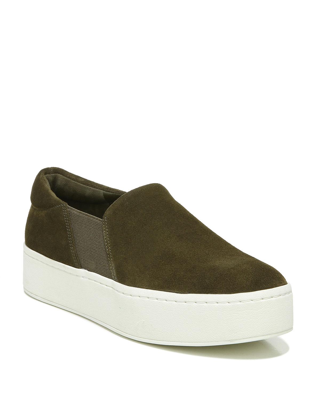 Warren Suede Slip-On Platform Sneakers