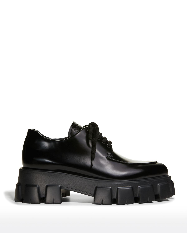 Monolith Sharp Leather Lug-Sole Loafers