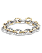 Oval Large Link Bracelet with Gold