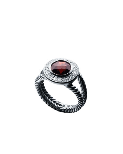 Petite Cerise Ring with Pyrope Garnet and Diamonds
