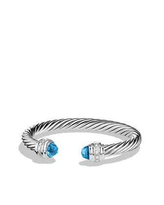 Cable Classics Collection Bracelet, Blue Topaz, 7mm