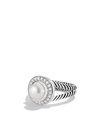 Petite Cerise Ring with Pearl and Diamonds
