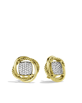 11mm Pave Diamond Infinity Earrings