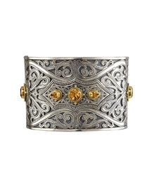 Konstantino Engraved Citrine Cuff -  Bracelets -  Neiman Marcus from neimanmarcus.com