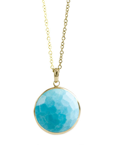 Turquoise Lollipop-Pendant Necklace