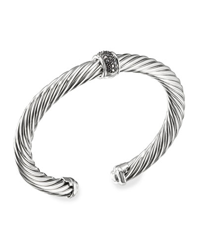 Cable Classics Bracelet with Black Diamonds