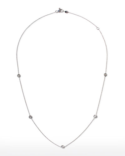White Gold Five-Station Diamond Necklace