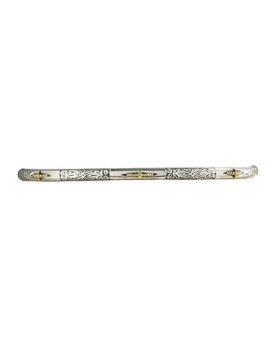 Astra 7-Star Silver & Gold Bangle
