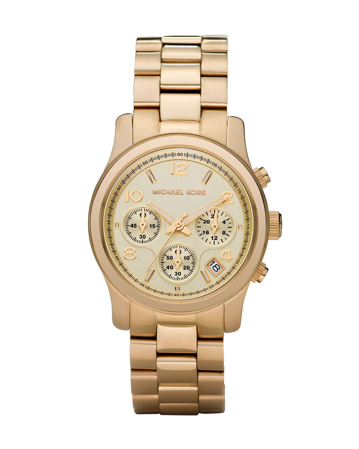 Yellow Golden Midsized Chronograph Watch