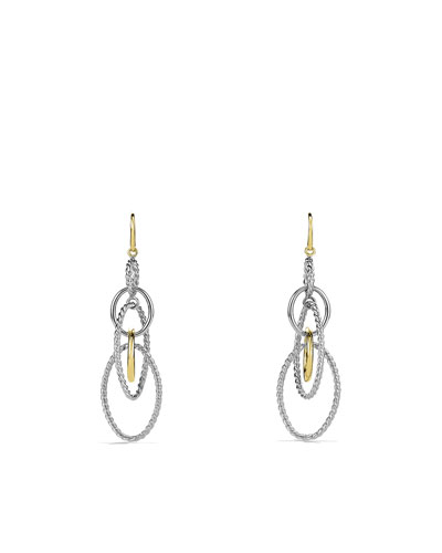 Mobile Large Link Earrings and Gold